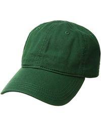 423cd12ee0c Lyst - Lacoste Croc Gabardine Cotton Cap (green) Caps in Blue for Men