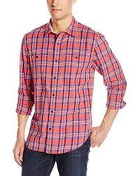 Lucky Brand - Mason Work Wear Shirt In Red Plaid - Lyst