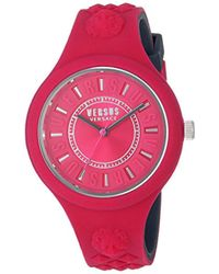 Versus - 'fire Island Bicolor' Quartz Stainless Steel And Silicone Watch, Color:two Tone (model: Vspoq2318) - Lyst