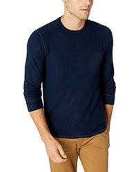 Velvet By Graham & Spencer - Bronson Heather Jersey Knit Long Sleeve Shirt, - Lyst