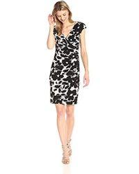 Kasper - Printed Ity Dress - Lyst