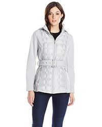 Kenneth Cole - Lightweight Quilted Belted Softshell - Lyst