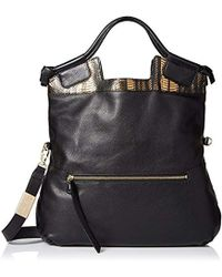 Foley + Corinna - Mid City Convertible Top Handle Tote With Removable Strap, Bronze Snake Combo - Lyst