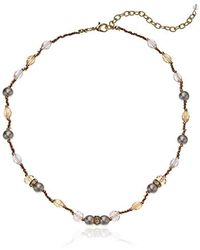 Napier - Pink Multi Beaded Collar Necklace - Lyst