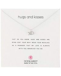 Dogeared - Reminders Hugs & Kisses And Xo Reminder Necklace - Lyst