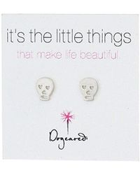 "Dogeared - ""it's The Little Things"" Skull Post Earrings - Lyst"
