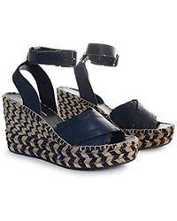 2f87b343903 Lyst - Donald J Pliner Ines Leather Wedge Sandal in Brown