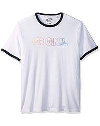 Original Penguin - Rainbow Ombre Crew Neck Graphic Tee - Lyst