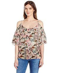 Plenty by Tracy Reese - Cold Shoulder Peasant Top - Lyst
