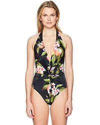 5c7e23a4a6 Lyst - Ted Baker Galinda One-piece Swimsuit in Black