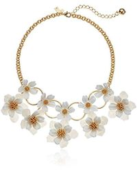 Kate Spade - S Statement Necklace, White Multi - Lyst