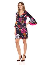 ad8bba8ace6 Trina Turk - Cheers V Neck Bell Sleeve Dress - Lyst