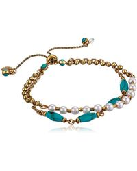 Lucky Brand - Beaded Bracelet, Gold, One Size - Lyst