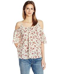 French Connection - Anastasia Ditsy Polly Plains Top - Lyst