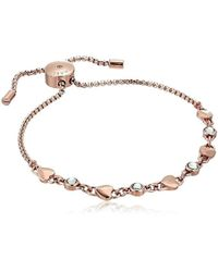 Michael Kors - S Logo Love Heart Crystal Slide Bracelet - Lyst