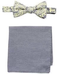Tommy Bahama - Urban Paisley Bow Tie And Solid Pocket Square Set - Lyst