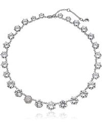 Betsey Johnson - S Blue Cubic Zirconia Stone Collar Necklace With Pave Accented Star And Details - Lyst