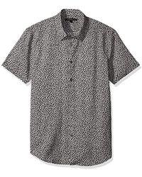 John Varvatos - Printed Short Sleeve Slim Fit Shirt - Lyst