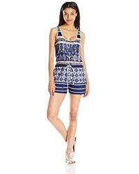 Clover Canyon - Sportswear Matte Jersey Romper - Lyst