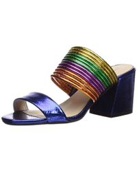 Kenneth Cole - Hannon Strappy Mule Heeled Sandal - Lyst