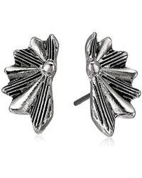 Sam Edelman - Etched Fan Stud Earrings - Lyst