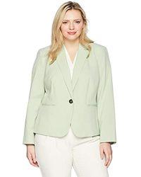 Nine West - Plus Size Bi Stretch 1 Button Jacket With Notch Collar - Lyst