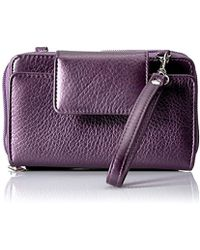 Buxton - Rfid Cell Phone Crossbody With Wristlet, Purple - Lyst