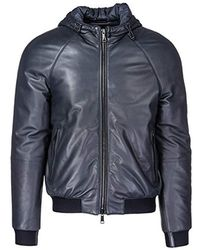 Emporio Armani - Designer Leather Jacket - Lyst