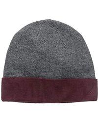 Nautica - Reversible Solid Cuff Hat - Lyst