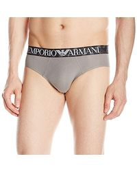 Emporio Armani - Pima Cotton Brief - Lyst