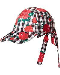 c09dc971e641fb Betsey Johnson - S Gingham Rose Baseball Cap - Lyst