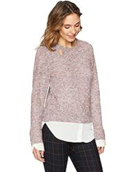 Ivanka Trump - Knit Crew Neck Pullover Twofer Long Sleeve Sweater Shirt - Lyst