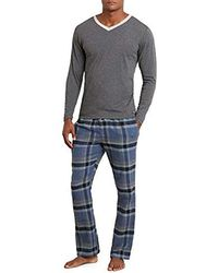 Kenneth Cole - V-neck And Flannel Pant Set - Lyst
