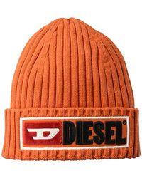 DIESEL - Logo Wool & Cotton Knit Beanie Hat - Lyst