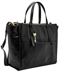 Fossil - Campbell Leather Tote Bag - Lyst