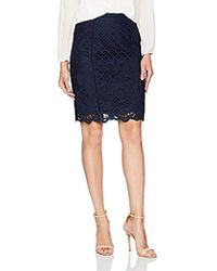 Cupcakes And Cashmere - Almont Lace Pencil Skirt - Lyst