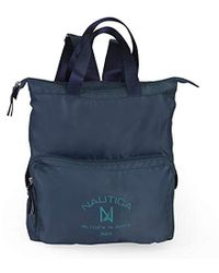 Nautica - New Tack Packable Nylon Tote, Teal Lake - Lyst