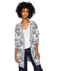 Lucky Brand - Button Front Camo Cardigan Sweater, - Lyst