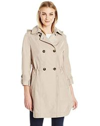 Lark & Ro - Double Breasted Cinch Trench Coat - Lyst