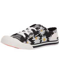 Rocket Dog Jazzin Jazzy/Squiggie Cotton Sneaker - Black
