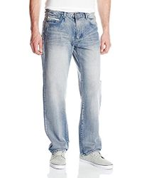 Ecko' Unltd Loose Fit 5 Pocket Long Bottom Denim Jean - Blue