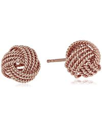Amazon Essentials - Plated Sterling Silver Twisted Love Knot Stud Earrings - Lyst