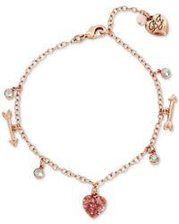 Betsey Johnson - S Heart And Arrow Charm Anklet - Lyst