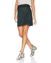 Armani Exchange -   Zipper Mini Skirt, - Lyst