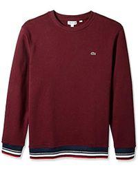finest selection 2dc07 0cb0a Lacoste - Semi Fancy Brushed Pique Fleece Sweatshirt - Lyst