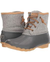 203cddd81259 Sperry Top-Sider - Saltwater Emboss Wool Rain Boot - Lyst