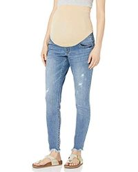 1927c0caae2df Jessica Simpson Plus Size Navy Coated Wash Skinny Jeans in Blue - Lyst