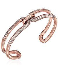 Michael Kors - S Iconic Link Pave Open Cuff Bracelet - Lyst