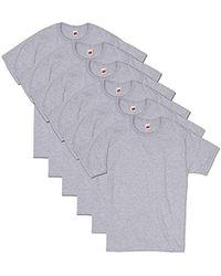 8911c4c3e8fa American Eagle Flex Solid V-neck T-shirt in Gray for Men - Lyst