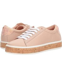 5d7ca0870749 Lyst - Kate Spade Amy Cork Embellished Sneaker in White